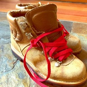 Vintage Leather and Suede Hiking Boots
